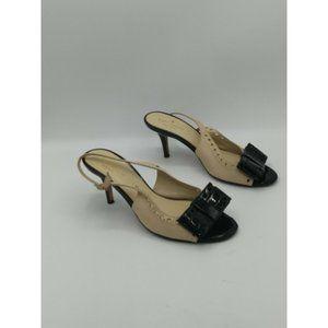 Kate Spade Color block Slingback Peep Toe Heels